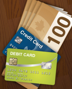 Credit Debit Cash
